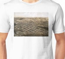 Birds eye view of the city of Coldwater, Michigan - 1868 Unisex T-Shirt