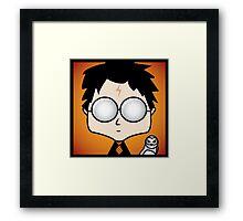 Harry Potter and Hedwig Framed Print