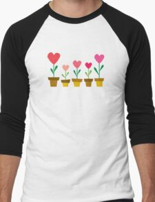 heart plants Men's Baseball ¾ T-Shirt