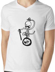 Unicycle Octopus Mens V-Neck T-Shirt