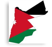 Flag Map of Jordan  Canvas Print
