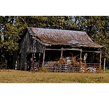 """Old Timer's Barn (colored version)""... prints and products Photographic Print"