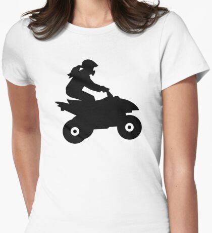 Quad woman girl Womens Fitted T-Shirt