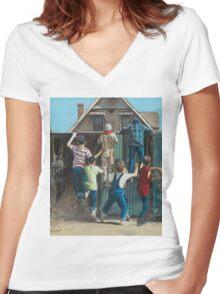 The Sandlot Women's Fitted V-Neck T-Shirt