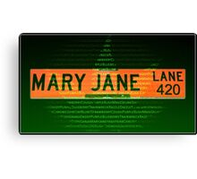 Mary Jane Lane 420 Canvas Print
