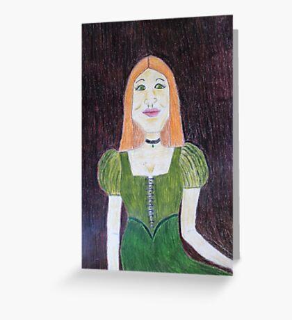An Irish Girl Greeting Card