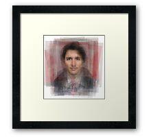 Justin Trudeau Portrait Framed Print