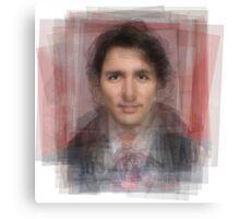 Justin Trudeau Portrait Canvas Print