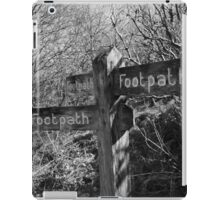 Ambiguous direction iPad Case/Skin