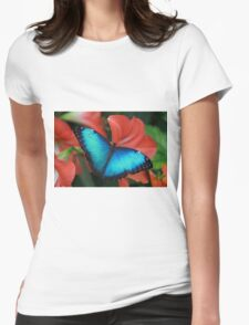 Blue Morph Womens Fitted T-Shirt