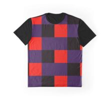 Squares & Rectangle (Purple, Black, Red) Graphic T-Shirt