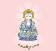 Serenity Meow Buddha Cat One Piece - Short Sleeve