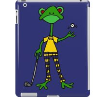 Cool Funny Frog Golfing iPad Case/Skin