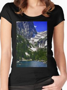 Mountain Lake Serenity  Women's Fitted Scoop T-Shirt