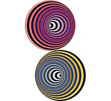 Vasarely Orbs Photographic Print