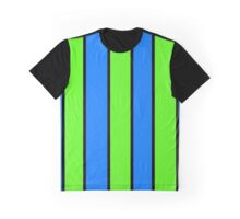 Simple Green and Blue Graphic T-Shirt