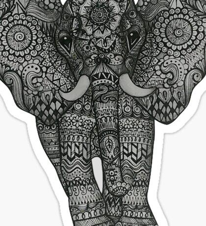 Zentangle Elephant Sticker