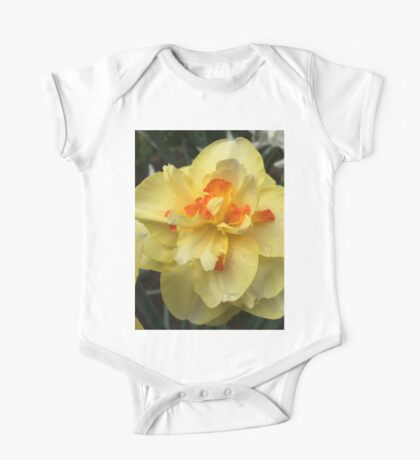 Yellow Orange Daffodil II If you like, please purchase, try a cell phone cover thanks One Piece - Short Sleeve
