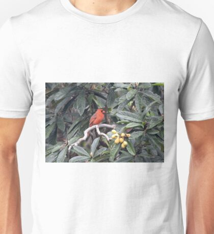 Cardinal in a Fruit Tree Unisex T-Shirt