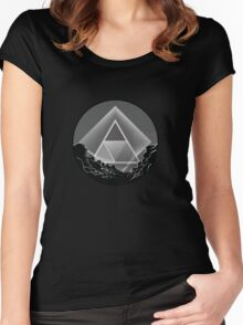 Skyview Dark Women's Fitted Scoop T-Shirt
