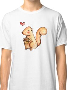Squirrel Loves Acorn Classic T-Shirt