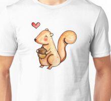 Squirrel Loves Acorn Unisex T-Shirt