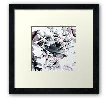 Modern Black and White Diamond Abstract Geometric Framed Print