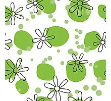 flowers on green spots Photographic Print
