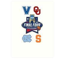 NCAA Men's Basketball Final Four 2016 Art Print