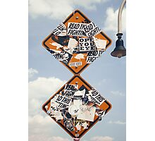 Street Signs in the Sky Photographic Print