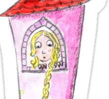 Rapunzel waiting in her tower Sticker