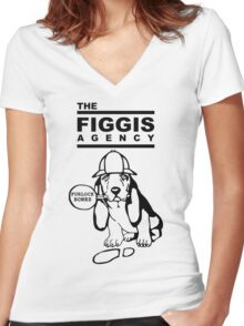 "The Figgis Agency ""FURLOCK BONES"" Women's Fitted V-Neck T-Shirt"