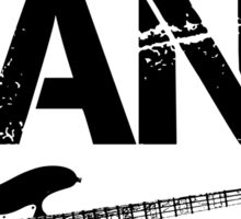I'm With The Band - Bass Guitar (Black Lettering) Sticker