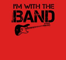 I'm With The Band - Bass Guitar (Black Lettering) Womens Fitted T-Shirt