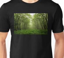 Pathway in Green Forest Unisex T-Shirt