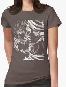 JoJo's Bizarre Adventure - Josuke and Yasuho (Dark) Womens Fitted T-Shirt