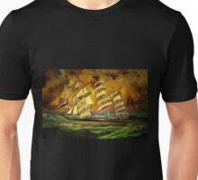 A Tea Clipper Heading for Home in a Strong Blow Unisex T-Shirt