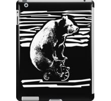 Vintage Black Bear Funny Bicycle Bear iPad Case/Skin