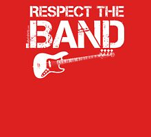 Respect The Band - Bass Guitar (White Lettering) Womens Fitted T-Shirt