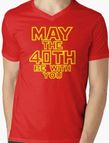 May The 40th Be With You Star Wars Mens V-Neck T-Shirt