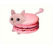 Macaroon Cat Art Print