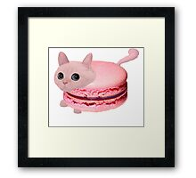 Macaroon Cat Framed Print