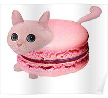 Macaroon Cat Poster