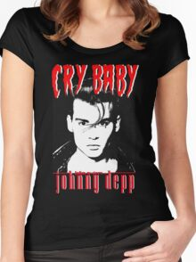 CRY BABY - JOHNNY DEPP Women's Fitted Scoop T-Shirt