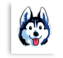 Cartoon Husky Canvas Print