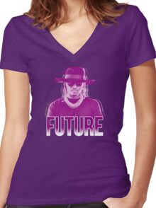 Purple Future Women's Fitted V-Neck T-Shirt