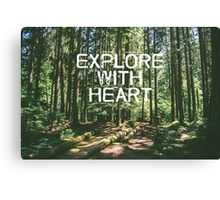 Explore with Heart Canvas Print