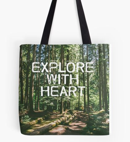 Explore with Heart Tote Bag