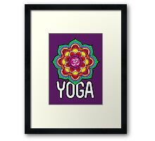Sacred Geometry for your daily Life- YOGA Framed Print