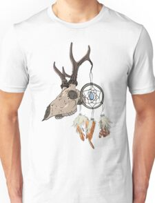 Animal Skull with dreamcatcher  Unisex T-Shirt